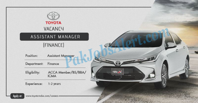 Toyota Indus Motor Company Limited Jobs 2021